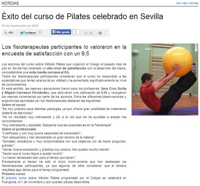 Noticia extraída del portal web del Ilustre Colegio Profesional de Fisioterapeutas de Andalucía